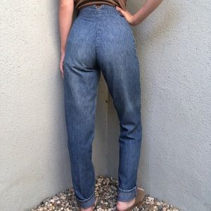 [vintage] ultra high waist patterned Lee jeans